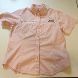 Columbia light pink vented athletic button down